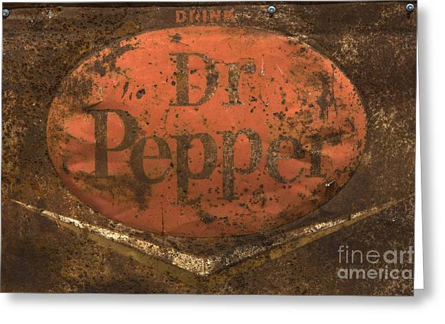 Dr Pepper Vintage Sign Greeting Card by Bob Christopher