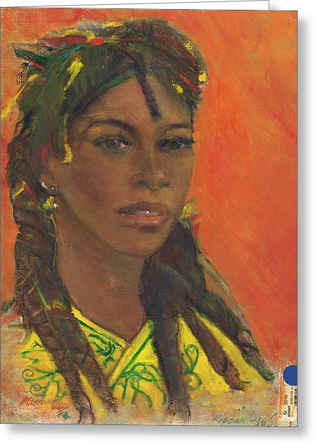 E Black Pastels Greeting Cards -  Dreadlocks Do Not Smell Like Weed Greeting Card by Kippax Williams