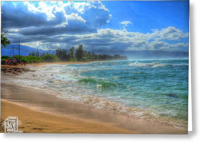 Hawaii Pyrography Greeting Cards -  Dreamy Beach  Greeting Card by Kenny Worland