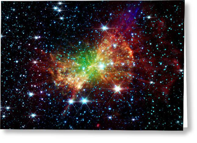 The Cosmos Greeting Cards -  Dumbbell Nebula Greeting Card by The  Vault - Jennifer Rondinelli Reilly