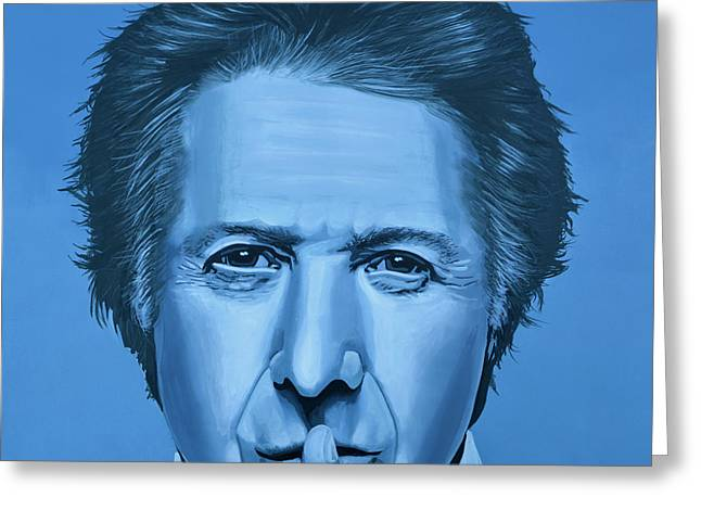 Award Greeting Cards -  Dustin Hoffman Greeting Card by Paul  Meijering
