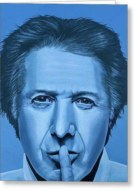 Dustin Hoffman Painting Greeting Card by Paul Meijering