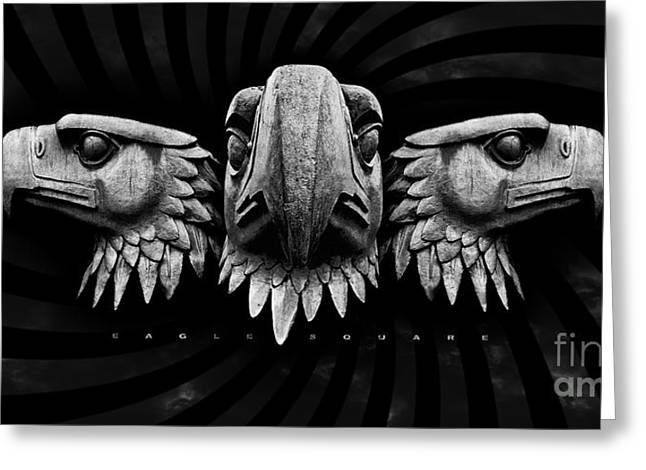 Hauptstadt Greeting Cards -  Eagle Square Greeting Card by ARTSHOT  - Photographic Art