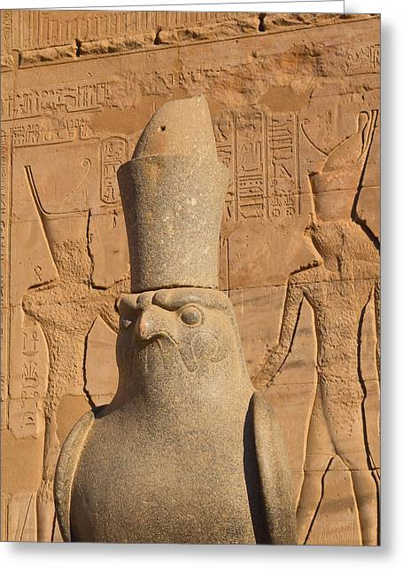 Horus Greeting Cards -  Edfu Temple  Greeting Card by Jaroslav Frank