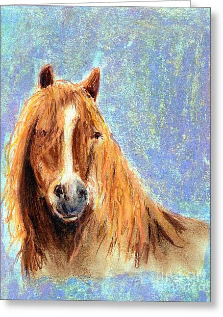 Flowing Pastels Greeting Cards - King of the Herd  Greeting Card by Madeline Moore