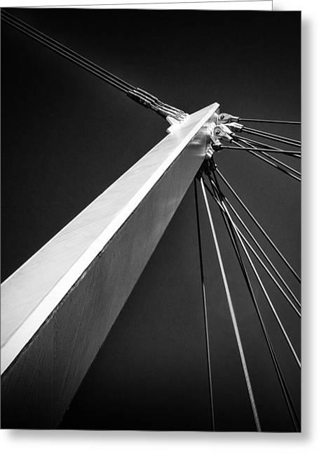 Skyway Greeting Cards -  Eureka Skyway - Ashford Greeting Card by Ian Hufton