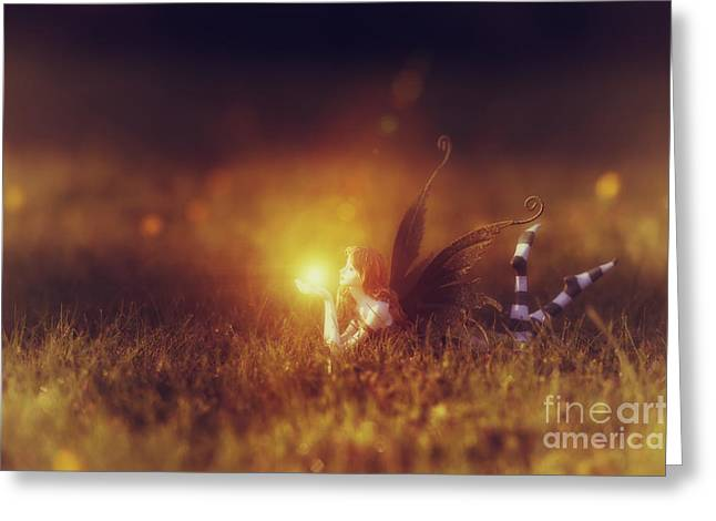 Fairyland Greeting Cards -  Faerie Light  Greeting Card by Tim Gainey