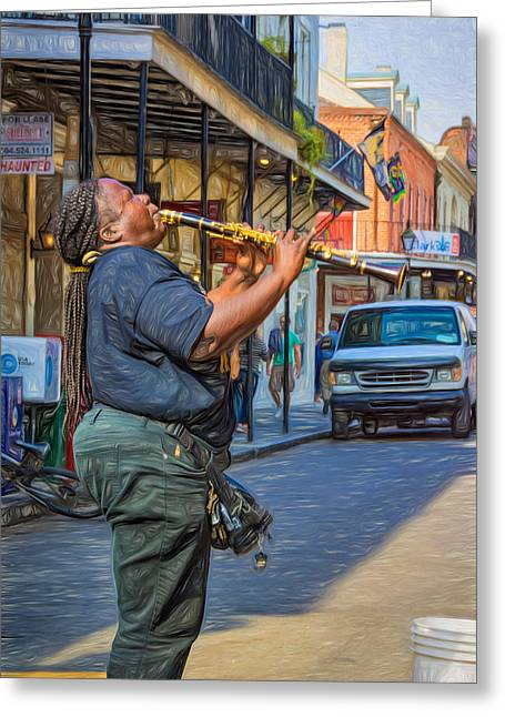 Nola Greeting Cards -  Feel It - Doreens Jazz New Orleans 2 Greeting Card by Steve Harrington