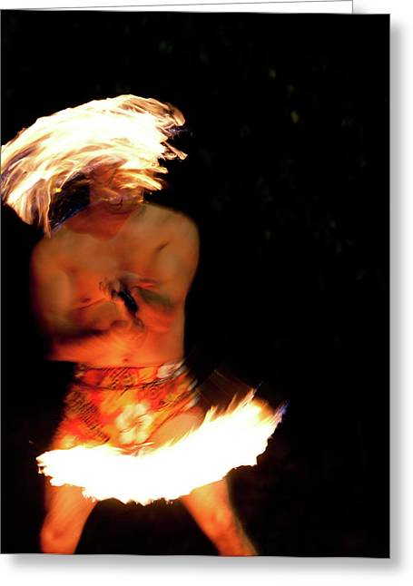 Action Photo Greeting Cards -  Fire Dance  Greeting Card by Gilbert Artiaga