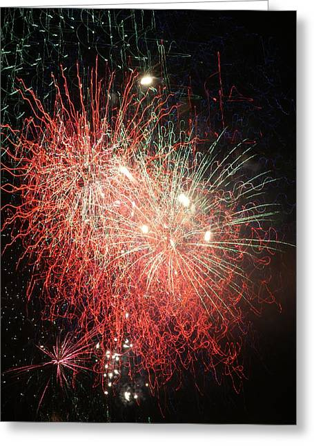 Independance Day Greeting Cards -  Fireworks Greeting Card by Alan Hutchins