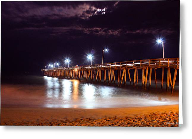 Pier Framed Prints Greeting Cards -  Fishing Pier_V2 Greeting Card by Christopher  Ward