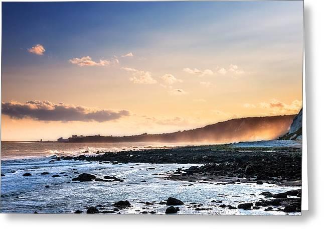 Folkestone Sunset Greeting Card by Ian Hufton