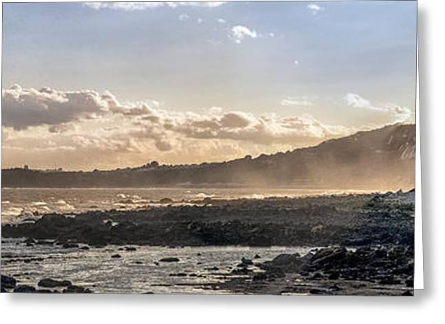 Folkestone Sunset Panorama Greeting Card by Ian Hufton