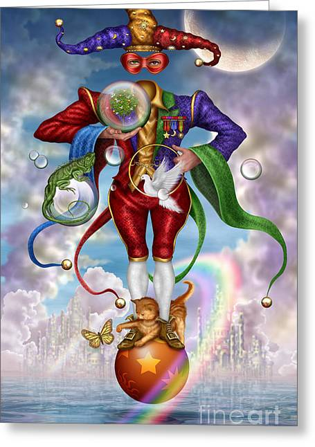 Fool Of Dreams Greeting Card by Ciro Marchetti