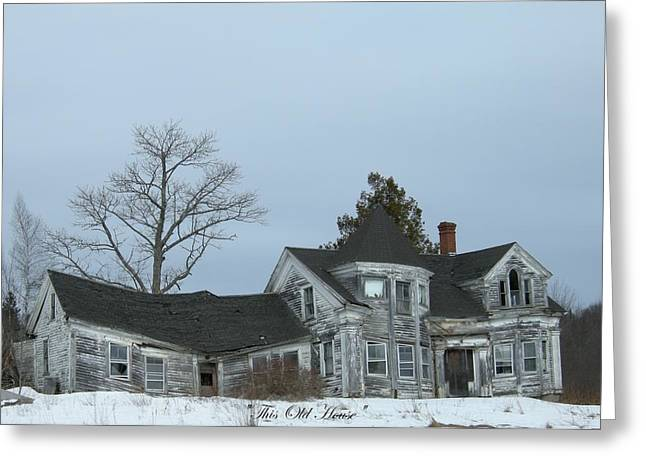 Old House Falling Down Greeting Cards -   Forgotten Greeting Card by Donald Cramer