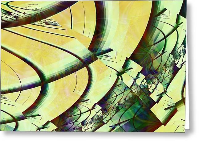 Fragmentation Greeting Cards -  Fragmentation Greeting Card by Anastasiya Malakhova
