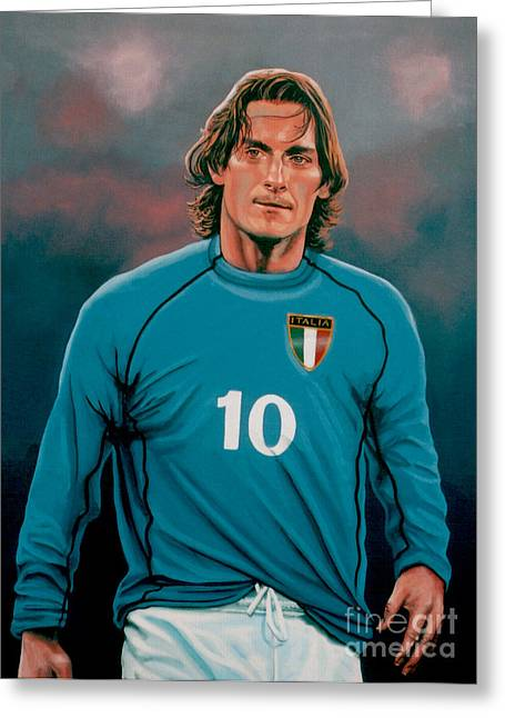 Team Greeting Cards -  Francesco Totti Italia Greeting Card by Paul  Meijering