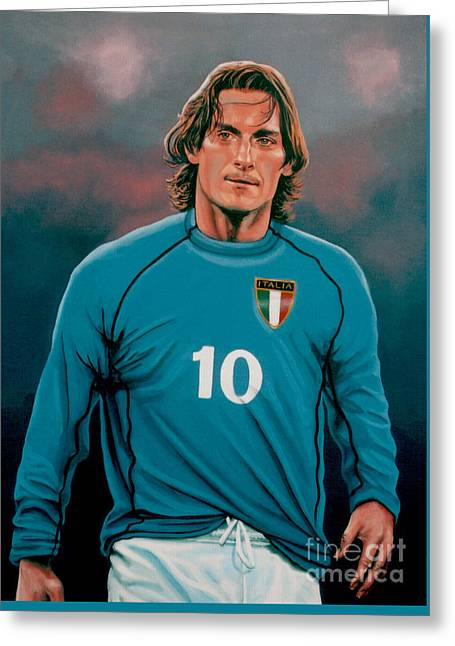 Serie Greeting Cards -  Francesco Totti Italia Greeting Card by Paul Meijering