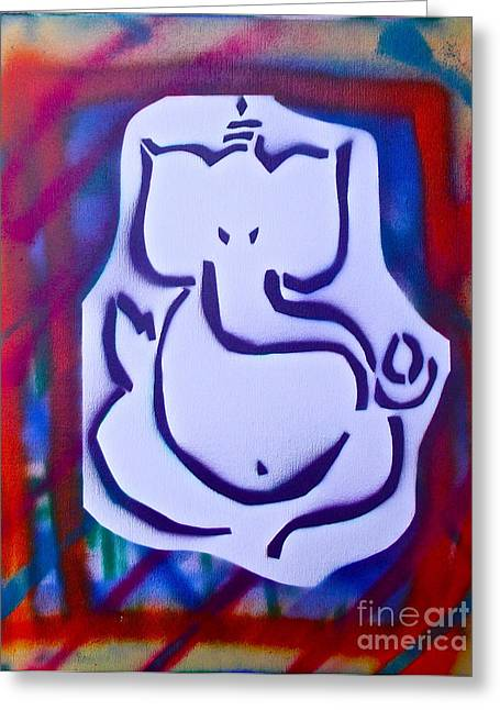 Metaphysics Greeting Cards -  Fresh Ganesh 2 Greeting Card by Tony B Conscious