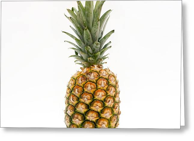 Exotic Fruit Greeting Cards -  Fresh pineapple Greeting Card by Bernard Jaubert