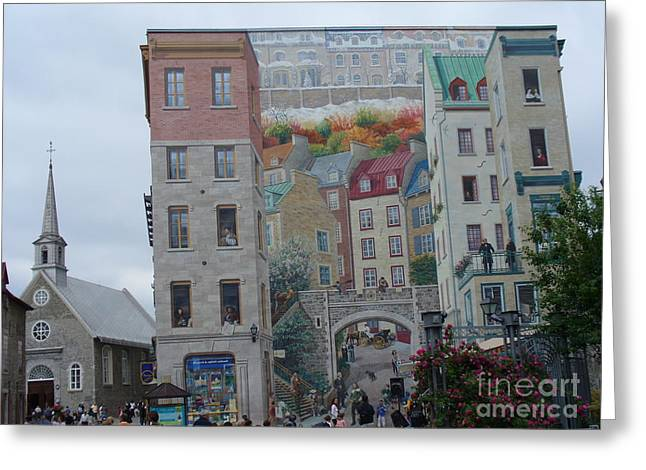 Civilization Greeting Cards -  Fresque des Quebecois Greeting Card by Lingfai Leung