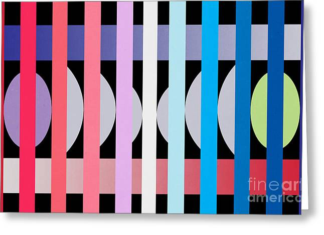 Contemporary Art Greeting Cards -  Fun Geometric  Greeting Card by Mark Ashkenazi