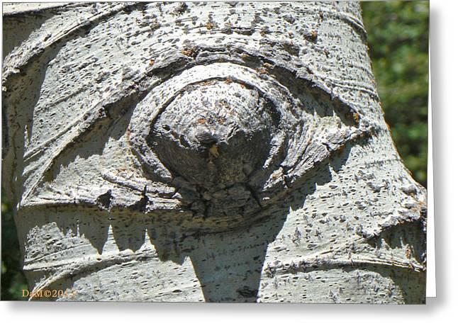 Humanlike Greeting Cards -  Gecko Eye Greeting Card by Deborah Moen