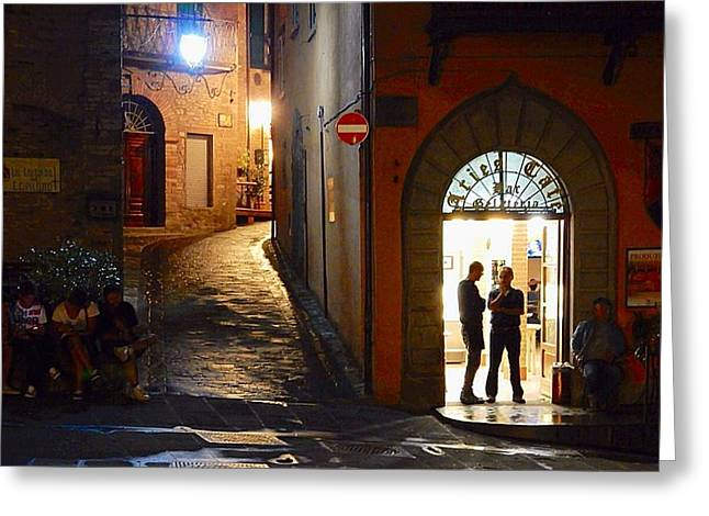 Best Sellers Greeting Cards -  Gelateria Silhouettes Montone Greeting Card by Nikki Keep