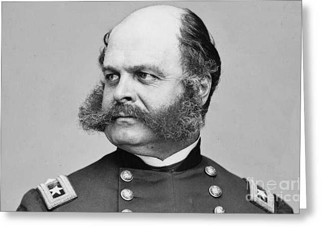 General Burnside Greeting Cards -  General Ambrose Burnside Gave birth to the name Sideburns  Greeting Card by David Call