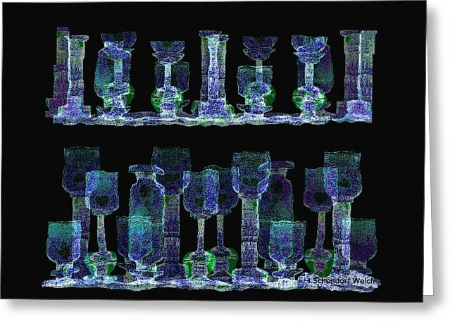 Many Glasses Greeting Cards -   Glasses  - 111 Greeting Card by Irmgard Schoendorf Welch