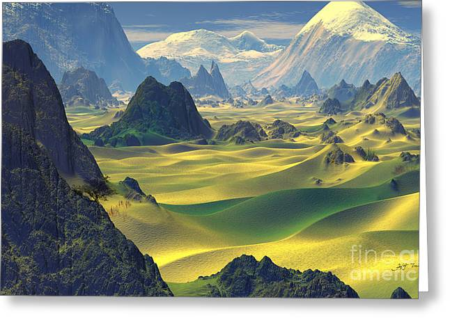 Dunes Mixed Media Greeting Cards -  Gobi Desert and Dunes Land  Greeting Card by Heinz G Mielke