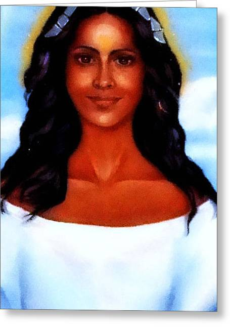 Santeria Greeting Cards -  Goddess Yemaya Greeting Card by Carmen Cordova