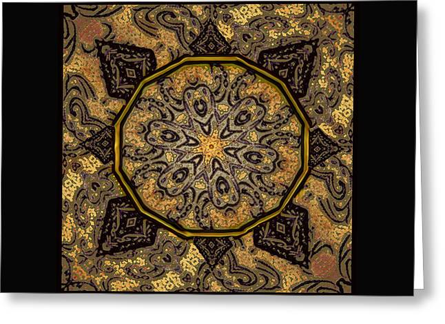 Golden Day Mandala Greeting Card by Kandy Hurley