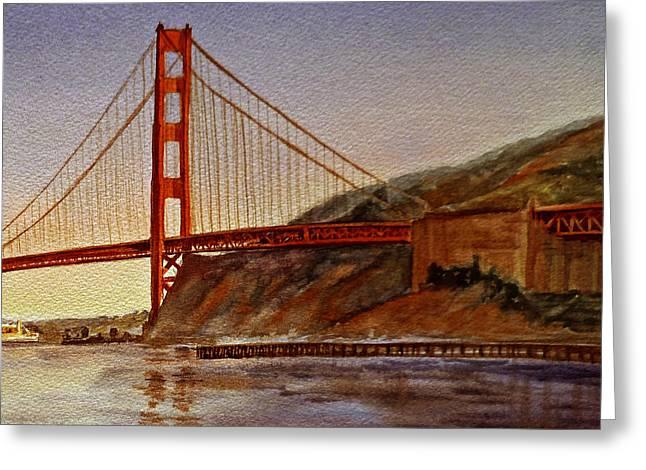 Golden Gate Bridge San Francisco California Greeting Card by Irina Sztukowski