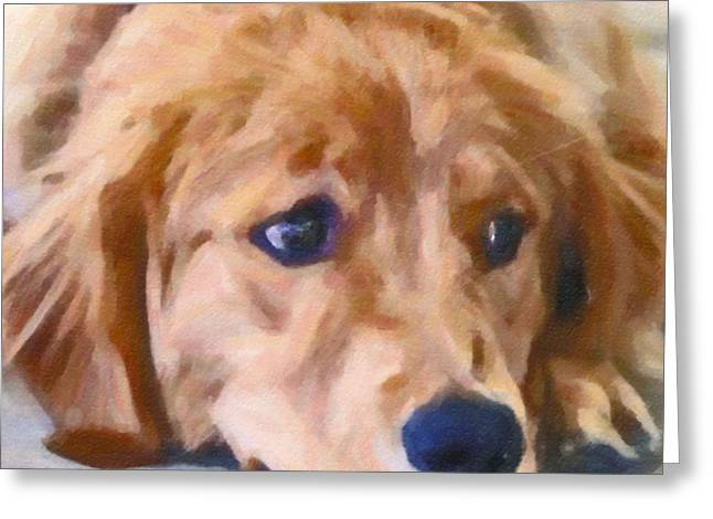 Watchdog Greeting Cards -  Golden Retriever Dog Greeting Card by Maggie Vlazny