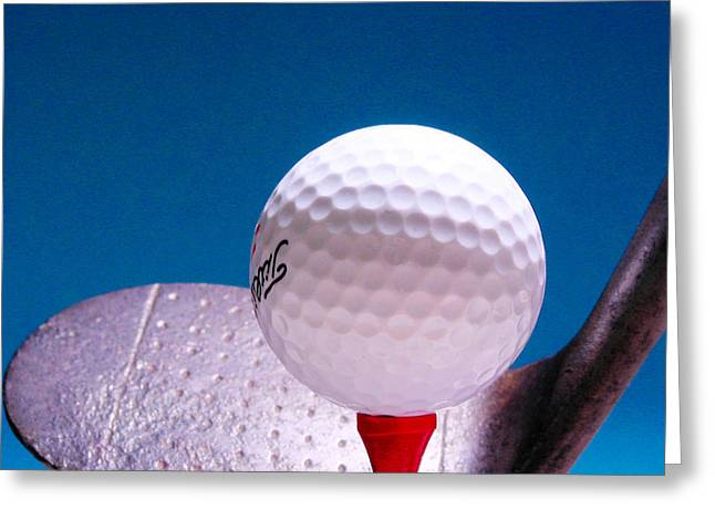Golf Clubs Greeting Cards -  Golf Greeting Card by David and Carol Kelly