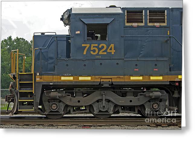 Train Rides Greeting Cards -  Good Old 7524 Greeting Card by Skip Willits