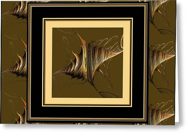 Winged Tapestries - Textiles Greeting Cards -  Gossamer Wings Greeting Card by Barbara Griffin
