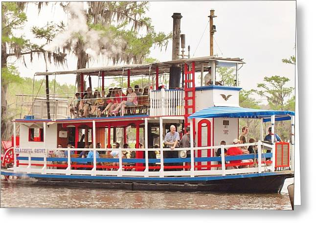 Tress Greeting Cards Greeting Cards -  Graceful Ghost Steamboat Greeting Card by Donna Wilson