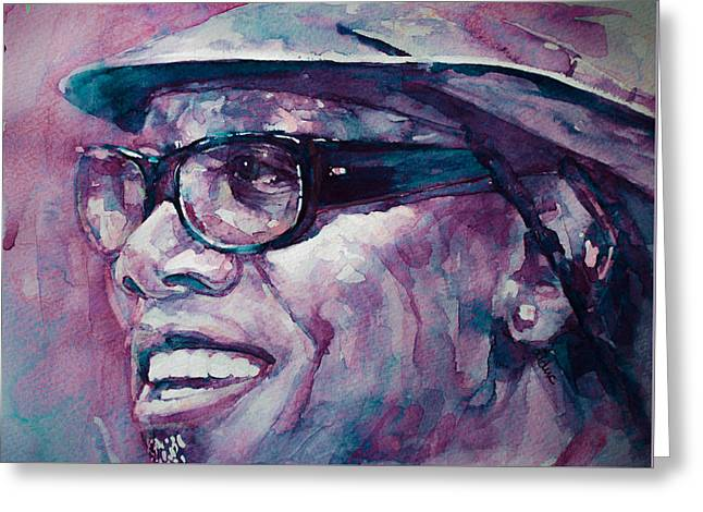 Clarence Clemons Paintings Greeting Cards - Working on a Dream  Greeting Card by Laur Iduc