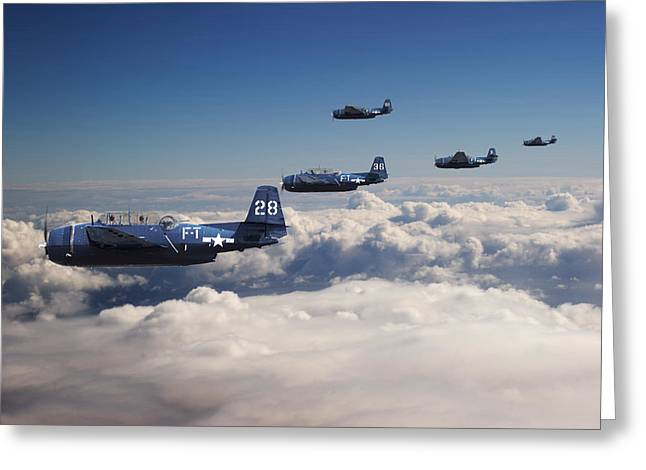 Formation Greeting Cards -  Grumman  Avenger - Lost.... Greeting Card by Pat Speirs