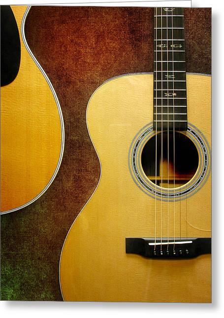 """""""fret Board"""" Greeting Cards -  Guitarssss Greeting Card by David and Carol Kelly"""