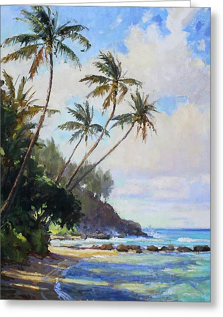 Islands Art Greeting Cards -  Hawaii Caught in the Trades Greeting Card by Jenifer Prince