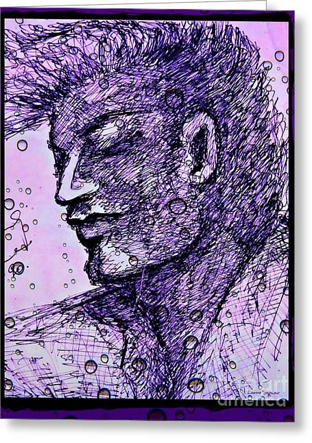 Pensive Greeting Cards -  He Wishing Greeting Card by Leanne Seymour