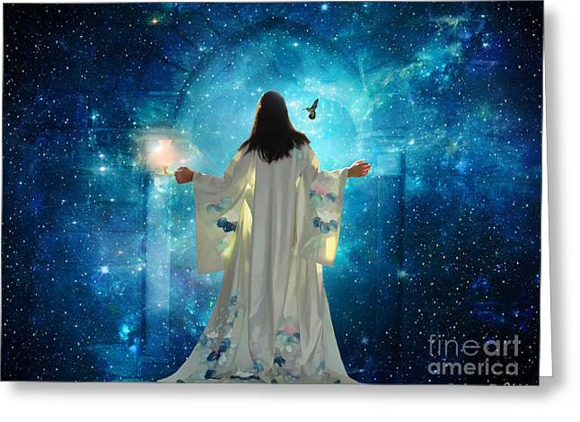Kingdom Of Heaven Greeting Cards -  Heavens Door Greeting Card by Dolores Develde