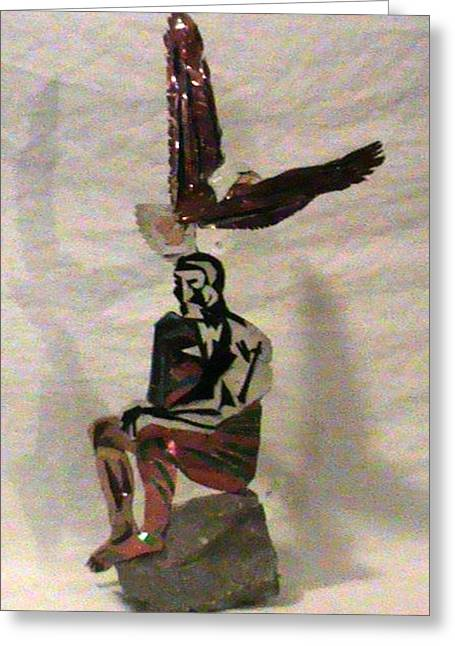 Eagle Sculptures Greeting Cards -  High Thinker  Greeting Card by Benneth Wilson