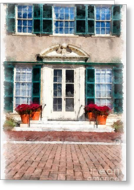Brick Patio Greeting Cards -  Hildene Manchester Vermont Greeting Card by Edward Fielding
