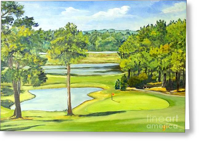 Hole 13 Greeting Cards -  Hole 13 at Pinehurst Country Club 6 Greeting Card by Frank Giordano