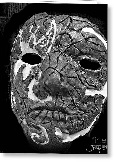 Gothic Reliefs Greeting Cards -  Hollywood Undead Mask  Greeting Card by Jonny Bench