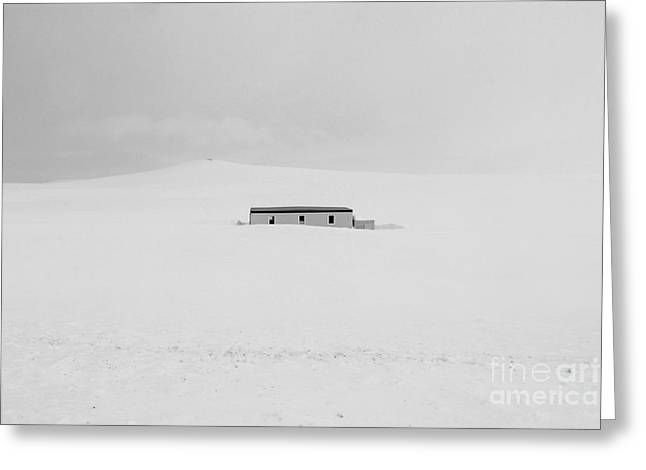 Mountain Road Greeting Cards -  House In The Snow Greeting Card by Julia Fine Art And Photography